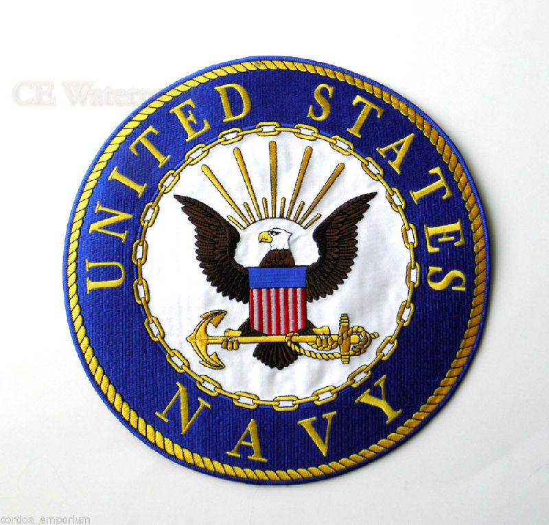 Us navy usn extra large high quality embroidered patch