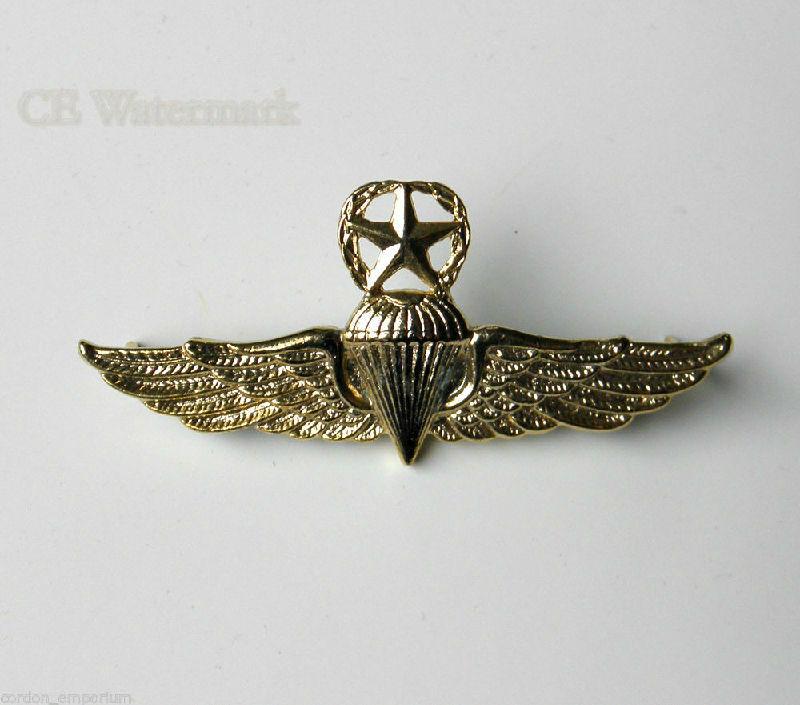 Dominican Republic Para Large Jump Wings Lapel Pin Badge 2.3 Inches