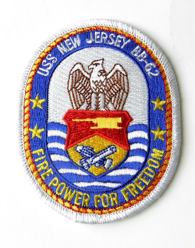 Uss New Jersey Us Usn United States Navy Embroidered Patch 35