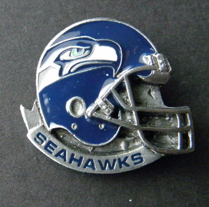2092897e659 Seattle Seahawks NFL Football Helmet Enamel Lapel Pin Badge 1 Inch ...