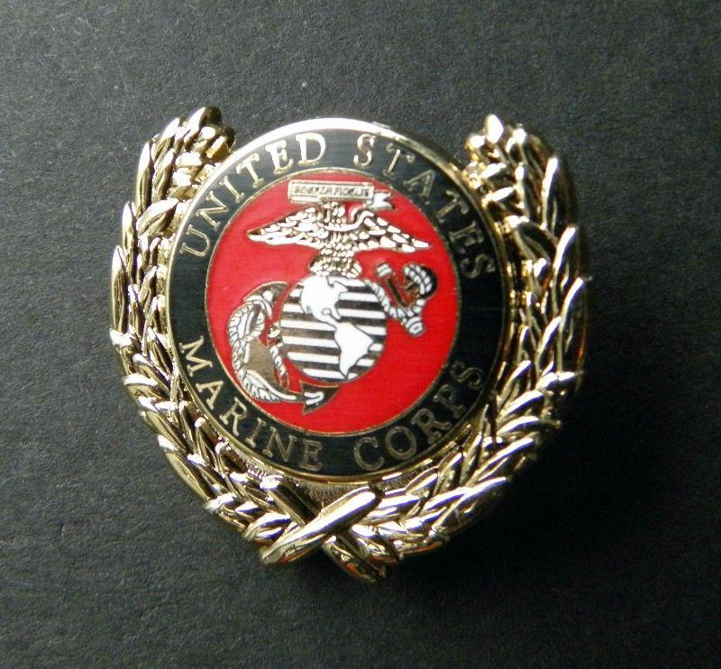 5a8e7ea31d0 US Marines Wreath USMC Marine Corps Lapel Pin Badge 1 Inch | Cordon ...