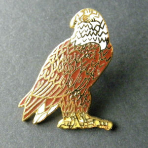 EAGLE USA UNITED STATES SNAKE AND TREE LAPEL PIN BADGE 1 INCH
