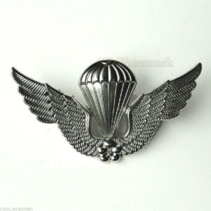 Korea Para Large Jump Wings Korean Lapel Pin Badge 2.1 Inches