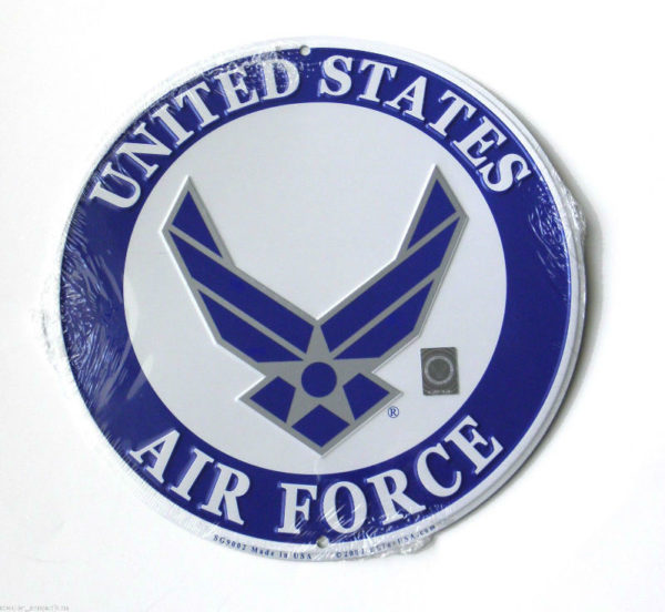 UNITED STATES  AIR FORCE  LOGO II  Round 12 inch Patch