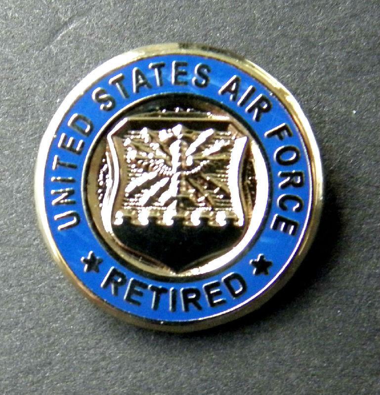 Usaf us air force retired mini lapel hat pin badge 58 ths inch usaf us air force retired mini lapel hat pin badge 58 ths inch publicscrutiny Choice Image