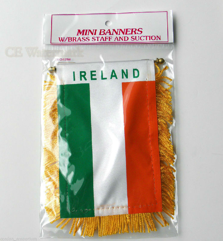 ITALY MINI POLYESTER INTERNATIONAL FLAG BANNER 3 X 5 INCHES