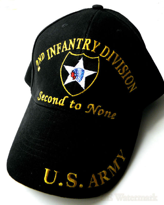 2Nd Infantry Division US Army Second To None Embroidered Baseball Cap Hat
