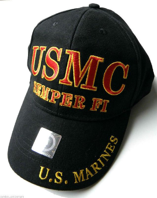 USMC Semper Fi Marine Corps US Marines Embroidered Baseball Cap Hat ... 3cf574aaad6