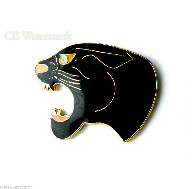 Black And Gold Hare Pin Badge New