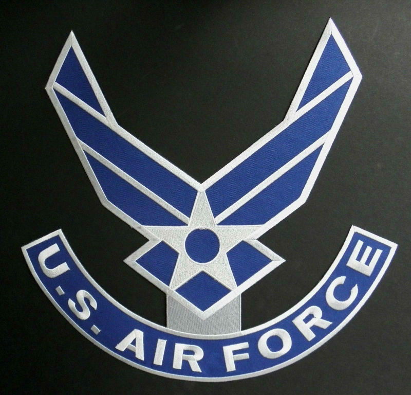 Air Force Wings USAF X Large Embroidered Jacket Patch 12 Inches