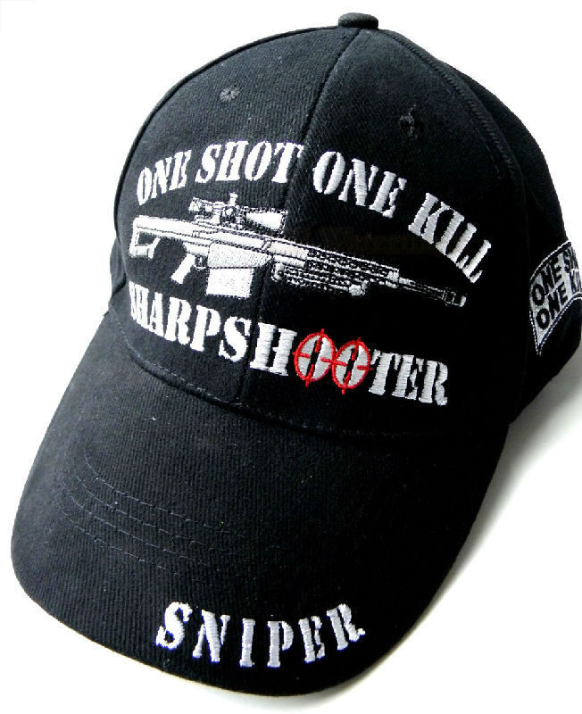 US Army One Shot One Kill Sharpshooter Sniper Embroidered Baseball Cap Hat cde33fdd22c5