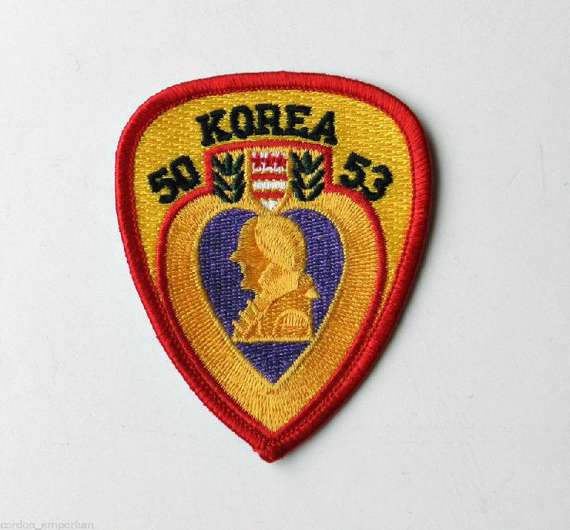 Korea Korean War Veteran Purple Heart Embroidered Patch 3