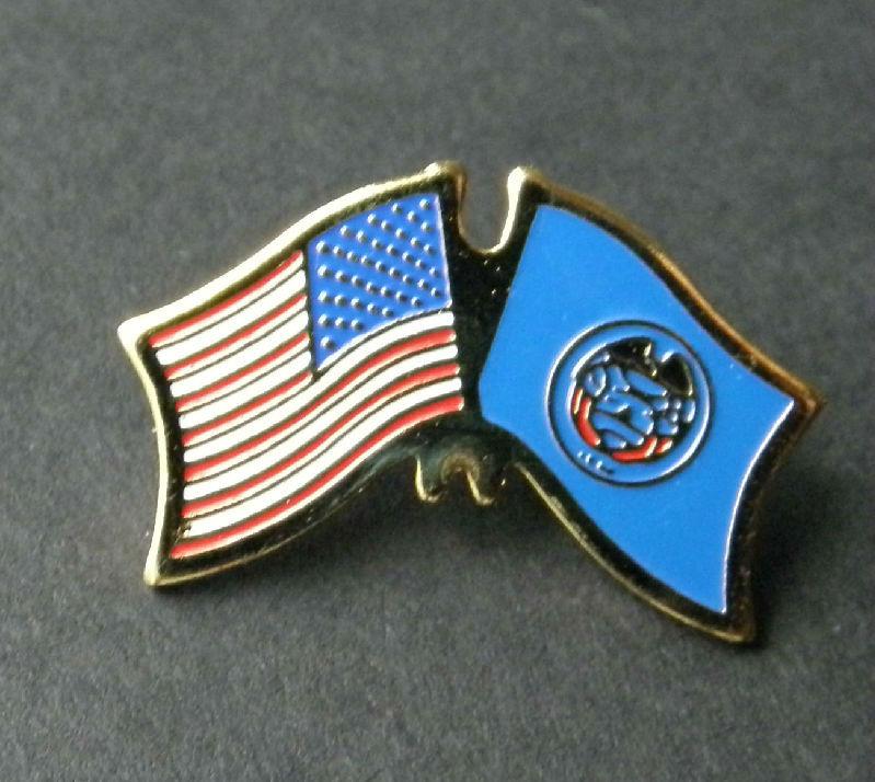 USA State Flag Lapel Utah Hat Pin NEW