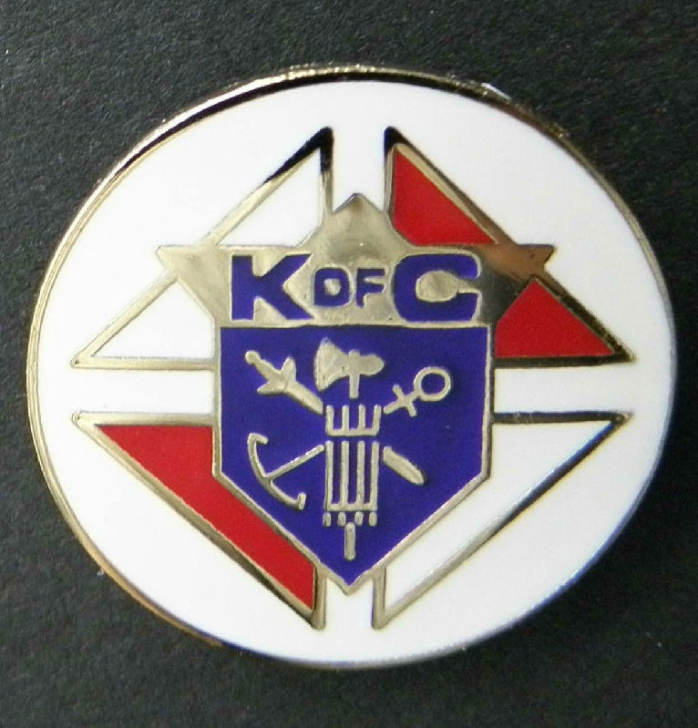 6cda49ddb7c Knights Of Columbus K Of C Fraternal Organization Lapel Pin Badge 1 Inch