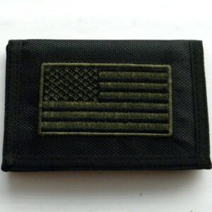 WOMAN WARRIOR MILITARY HEAVY DUTY NYLON EMBROIDERED WALLET TRIFOLD